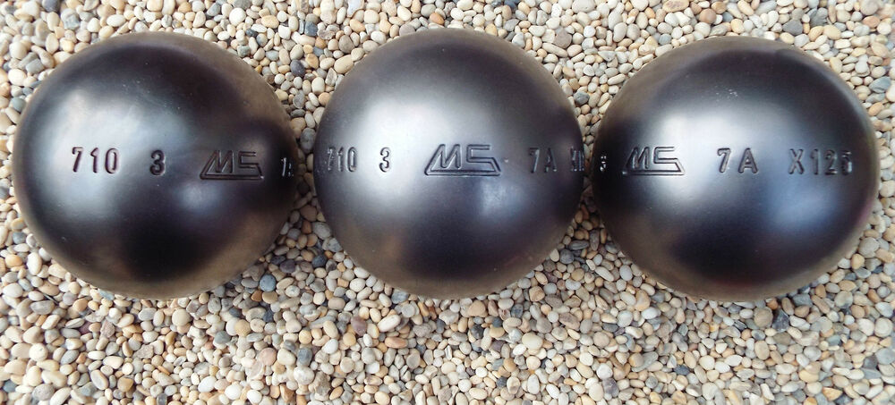 set of new stainless steel lsx ms petanque boules diameter 73 weight 710 ebay. Black Bedroom Furniture Sets. Home Design Ideas