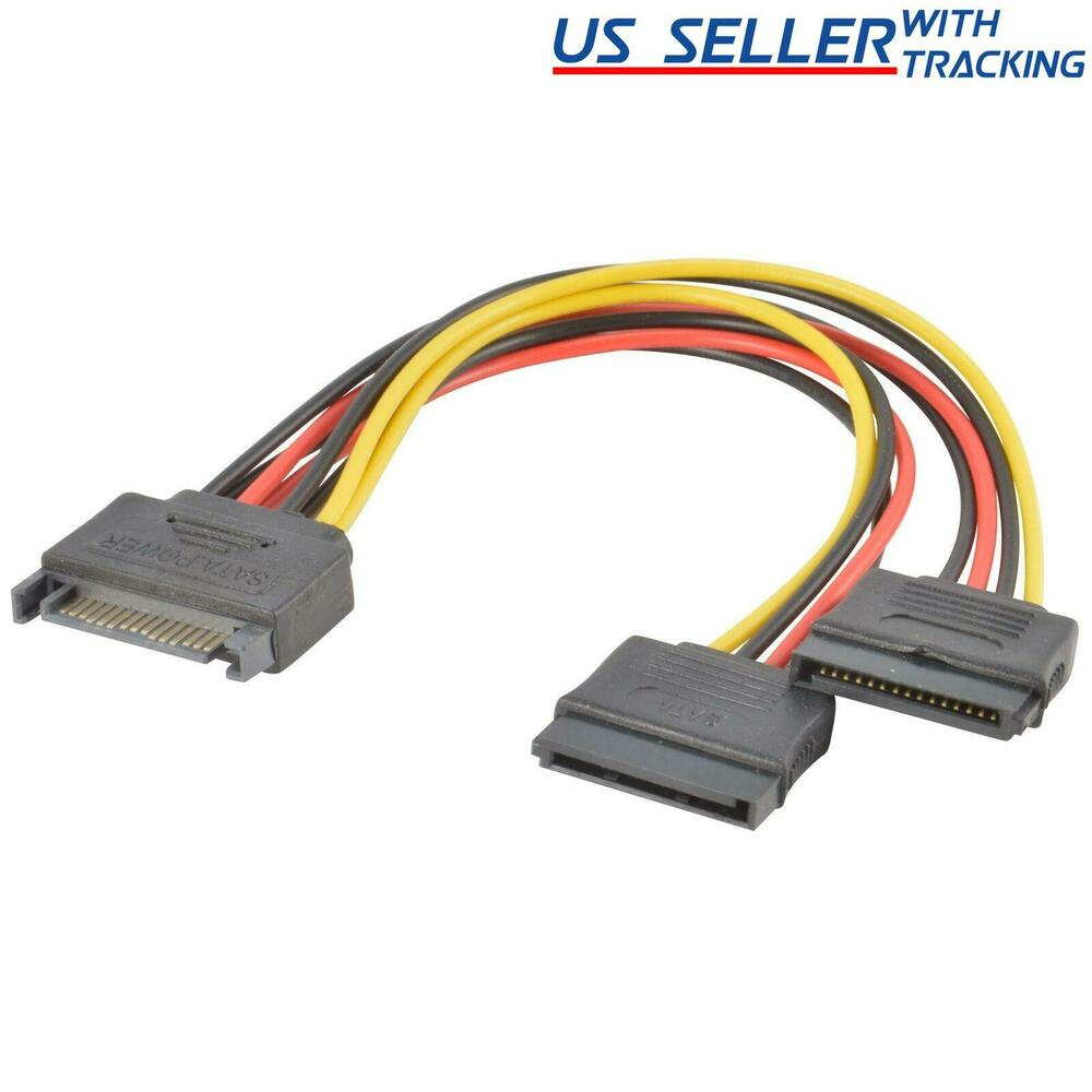 Sata Power Splitter : Sata power pin y splitter cable adapter male to female