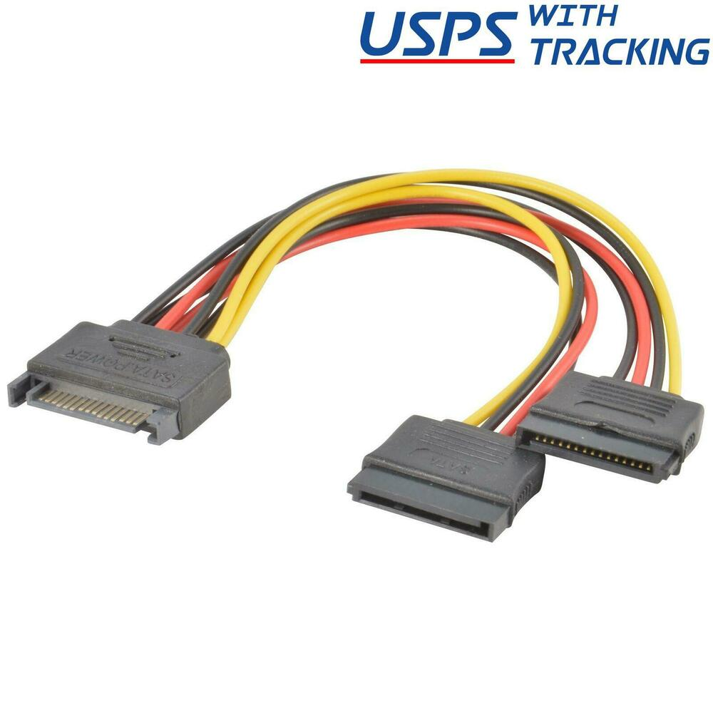 Pack sata power pin y splitter cable adapter ebay
