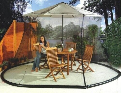 Umbrella Mosquito Net Mesh Grid Parasol Cover Bug Fly