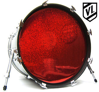 20 chrome or sparkle bass drum head with port hole ring new ebay. Black Bedroom Furniture Sets. Home Design Ideas