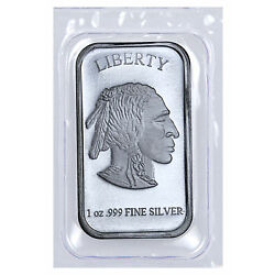 Kyпить 1 oz .999 Fine Silver Buffalo Liberty Bar (Sealed in Plastic) SKU40117 на еВаy.соm