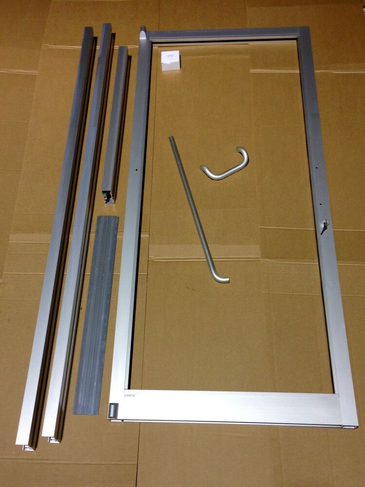 Glass aluminum storefront door and frame 3 39 0 x 7 39 0 Exterior door frame parts