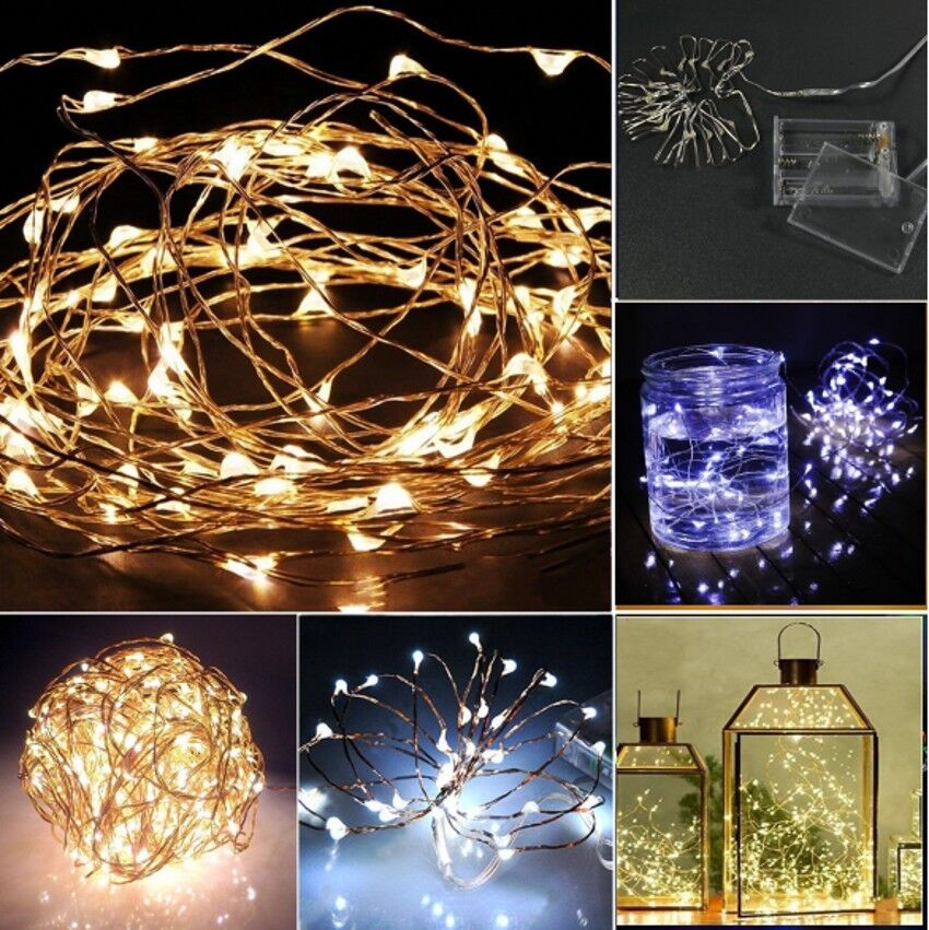 2m 20 leds colorful battery operated mini led copper wire 85931