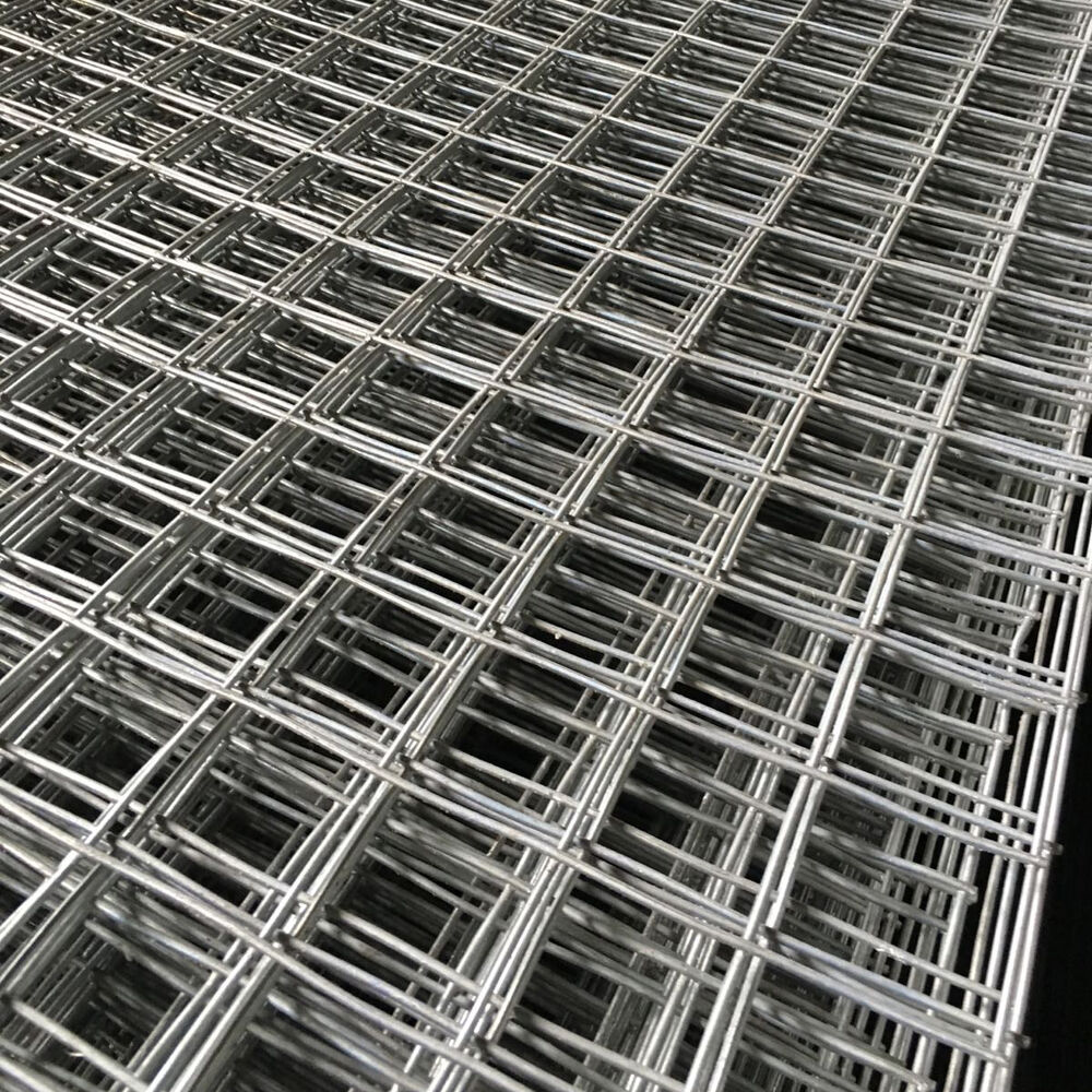 6ft Galvanised Wire Mesh Panels Steel Sheet Metal Welded 2 U0026quot  Holes    1 U0026quot  X 3 U0026quot  Mesh