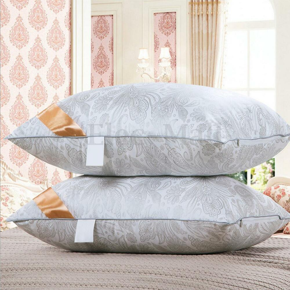 queen size bed pillow cool slumber hypoallergenic sleep soft comfort washable ebay. Black Bedroom Furniture Sets. Home Design Ideas