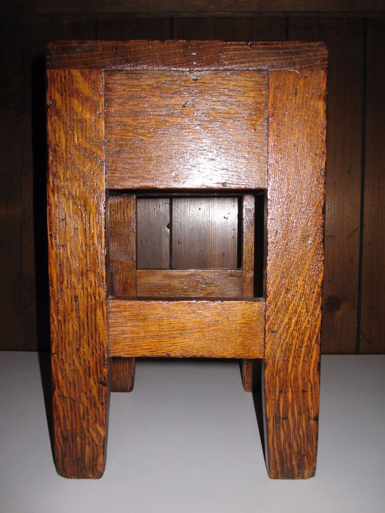 Antique Stickley Bros Quaint Furniture Stand Salesman