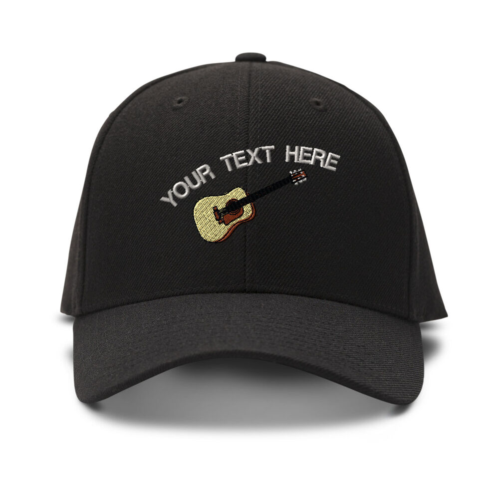 f59a9898a44 Details about Your Text Here Custom Guitar Embroidery Embroidered  Adjustable Hat Baseball Cap