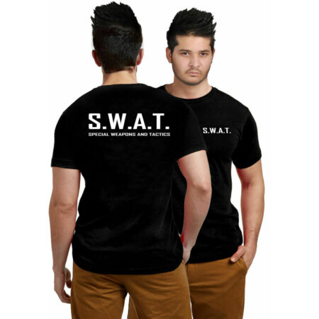 img-New Mens Boys SWAT Printed Shirts Special Weapons & Tactics Police Casual Top
