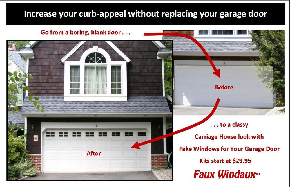 Faux Windaux Fake Windows Vinyl For Your Garage Door