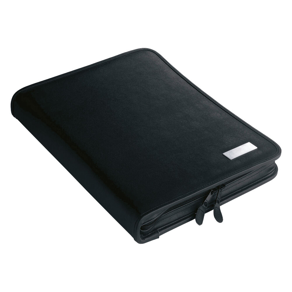 A4 Leather Look Conference Folder 2 Ring Binder Zipped