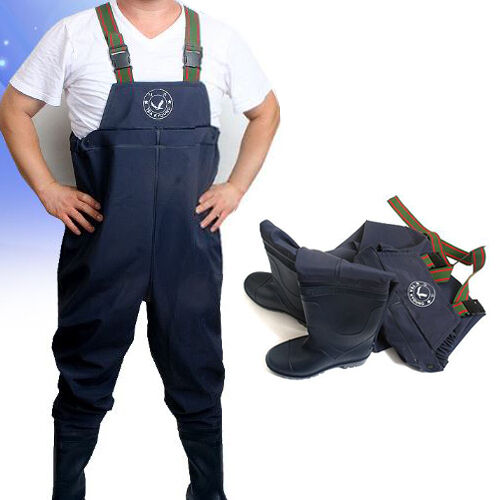 Mens womens waterproof working overalls pants clothes with for Womens fishing shoes