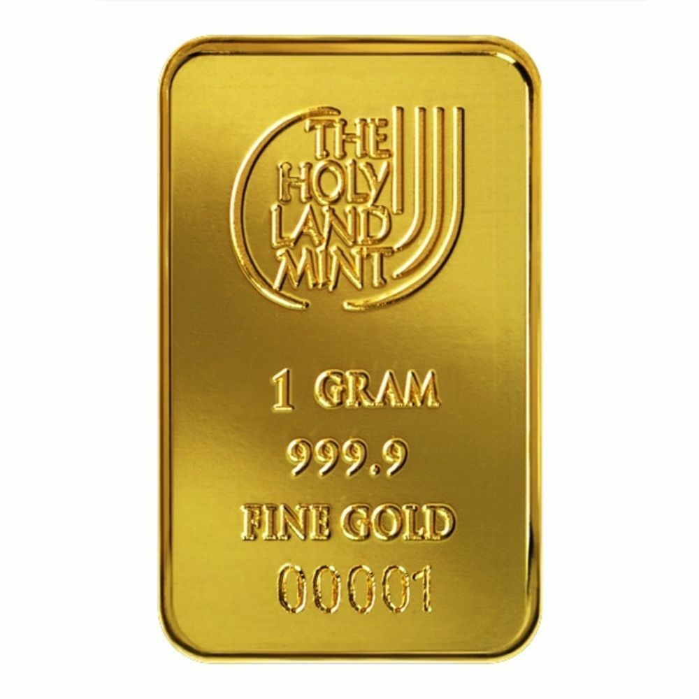Special Passover Sale 1 Gr Pure Gold Bar 999 9 Israel