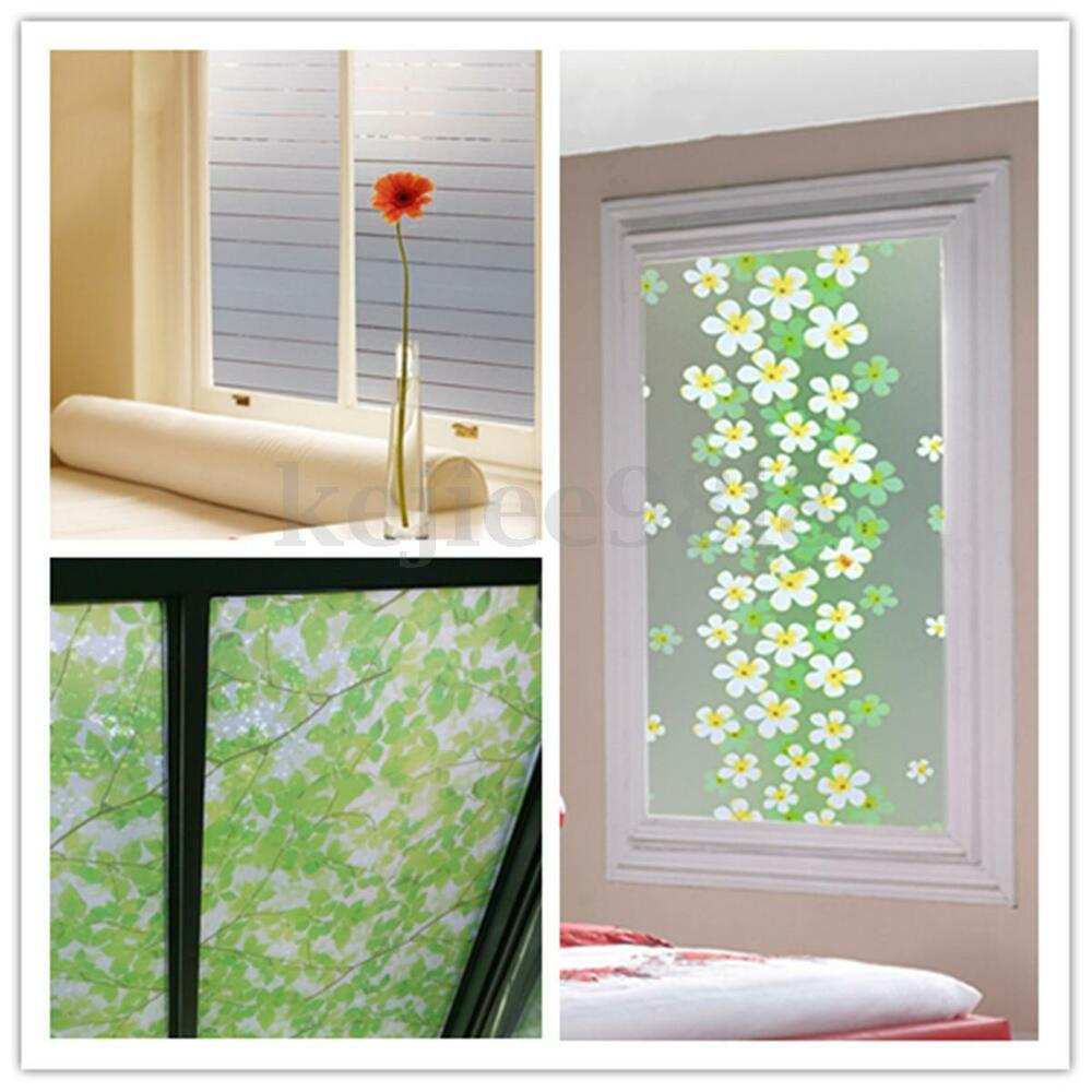 waterproof frosted privacy bedroom bathroom window glass film sticker 45x200cm ebay. Black Bedroom Furniture Sets. Home Design Ideas