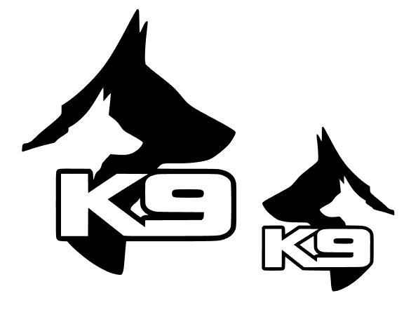 2 X K9 Vehicle Sticker Decals Dog Handler Graphics