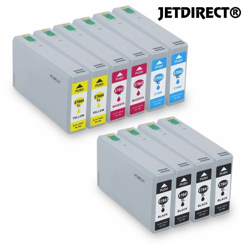 T786XL E786XL INK CARTRIDGES NEW JETDIRECT 10PK For EPSON