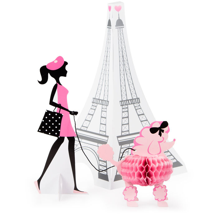 Party In Paris Large Centrepiece Table Decoration Pink