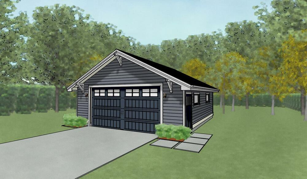 Double car 2 car garage architectural plans blueprints 24 x 28 garage plans free