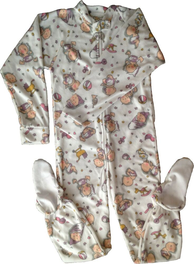 Baby Pants Adult Footed Babies Jammies Locking Zipper For