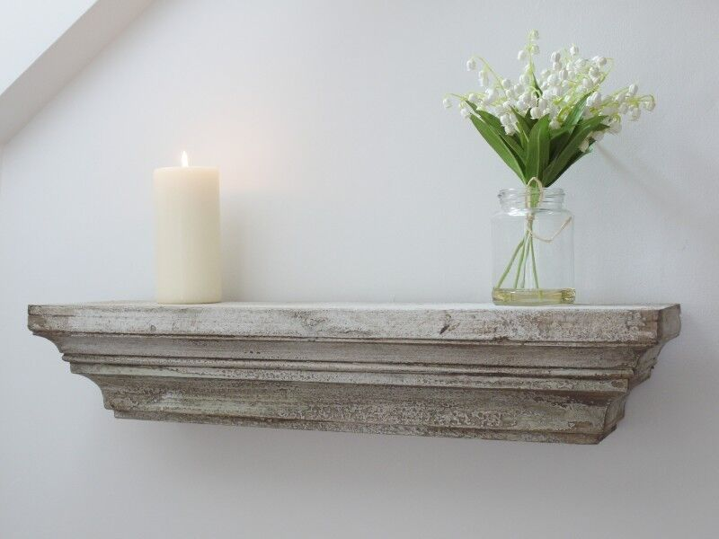 Shabby Chic Vintage Style Distressed Antique White Wall