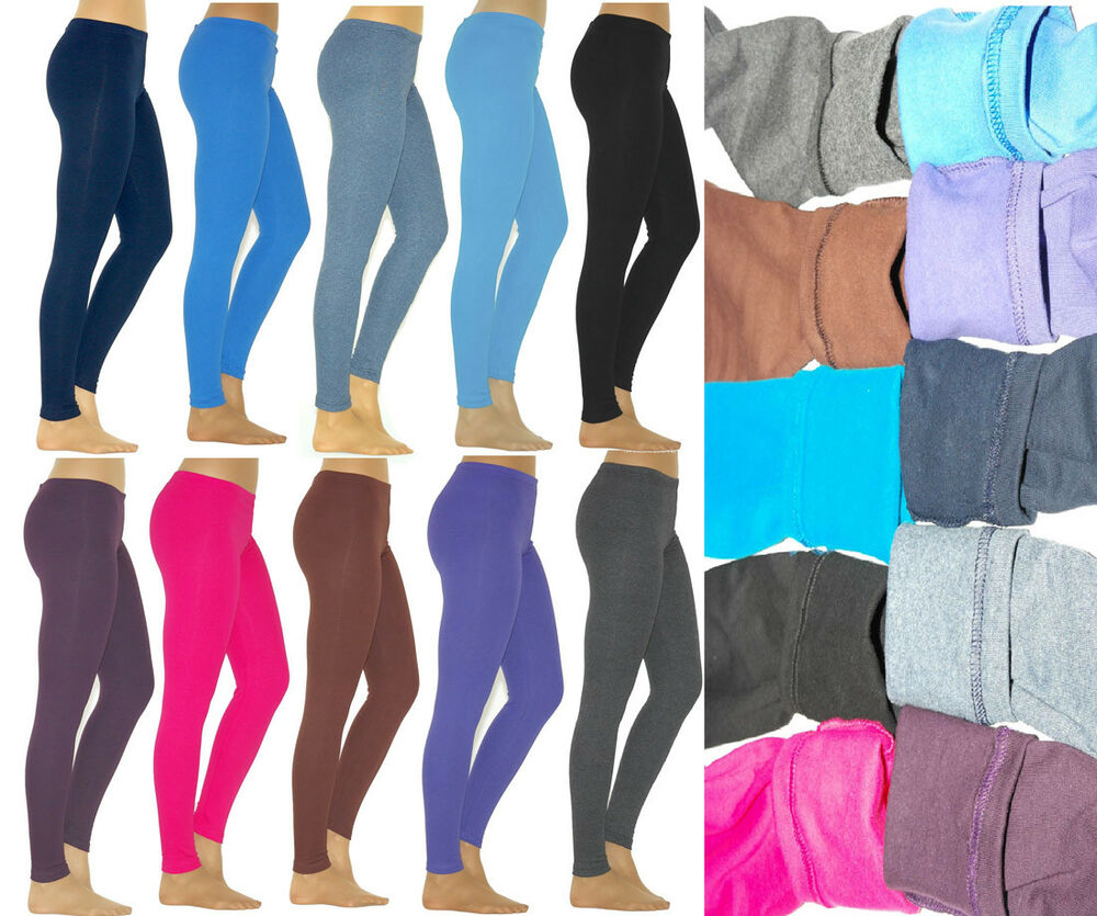 thermo leggings hose lange damen leggins lang baumwolle fleece dick warm weich ebay. Black Bedroom Furniture Sets. Home Design Ideas