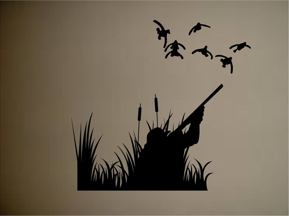 DUCKS DUCK HUNTING OUTDOORS VINYL WALL DECAL STICKER WALL MURAL Part 82