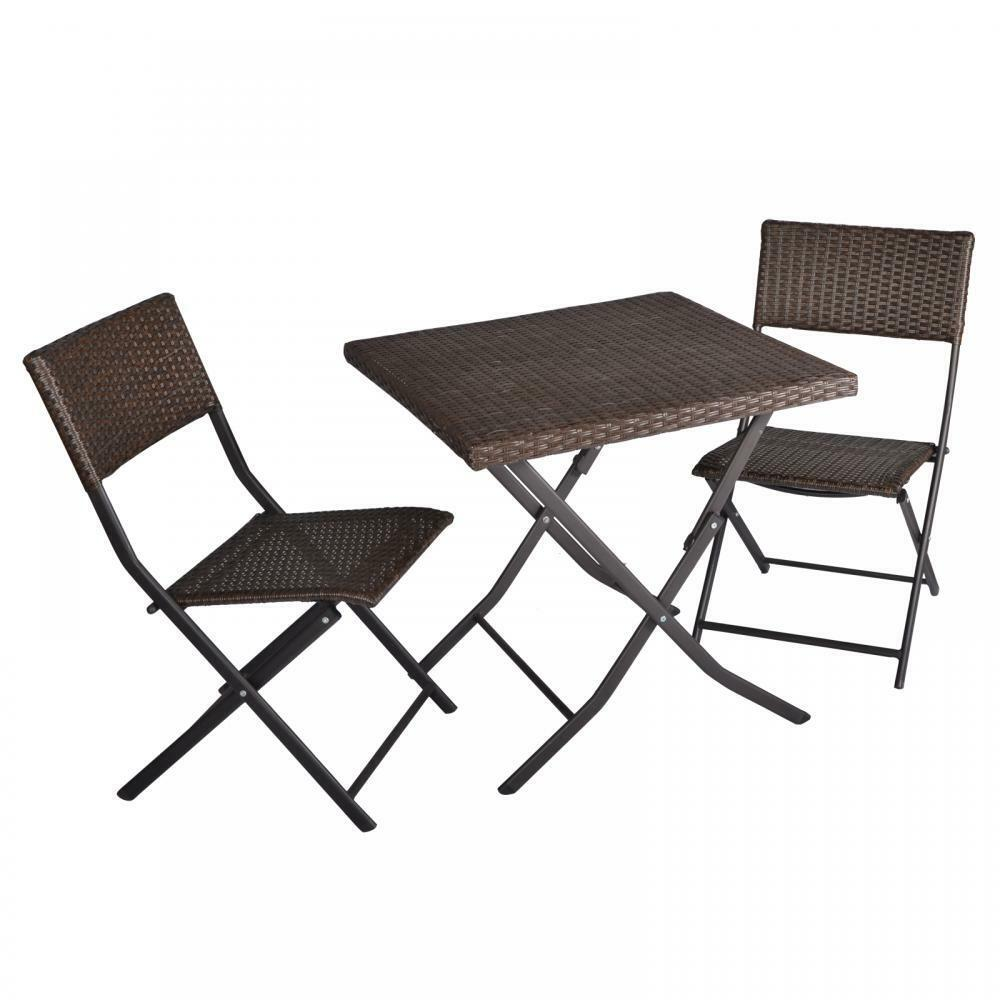 3 piece table and chairs patio deck outdoor bistro cafe for Patio furniture table set