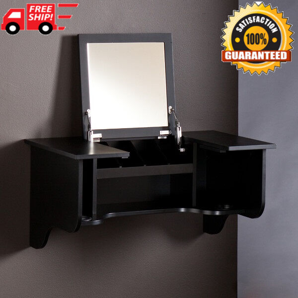 bath vanity table wall mount make up cabinet w mirror