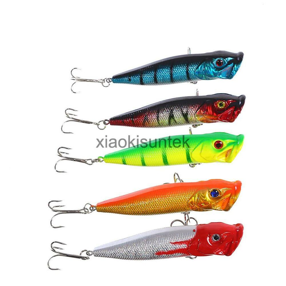 5pcs multicolor pencil popper fishing lures striper for Fishing poppers for bass