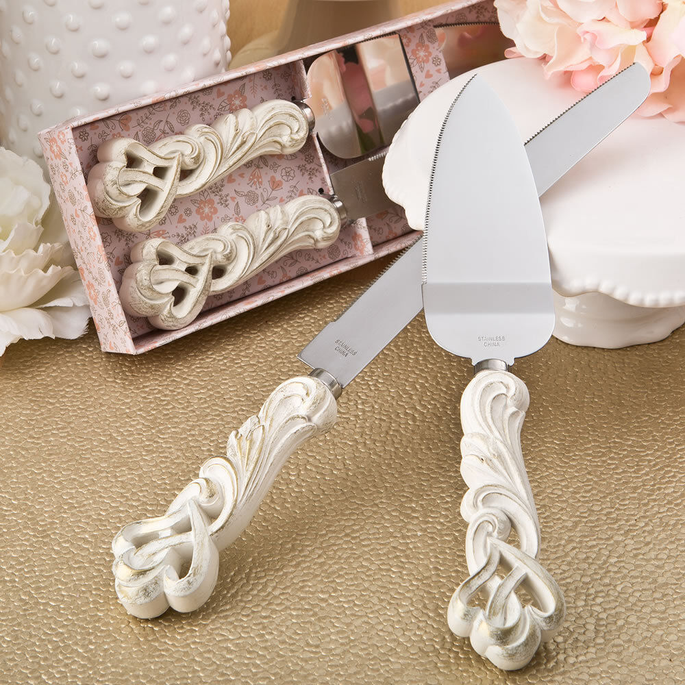 Wedding Gift Knife Set : ... Heart Wedding Knife Cake Server Serving Set ENGRAVING Gift eBay