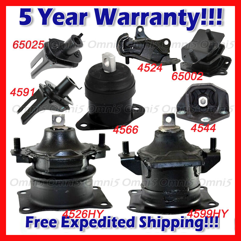 L962 Engine Motor & Trans Mount Full Set 8pcs For 2004