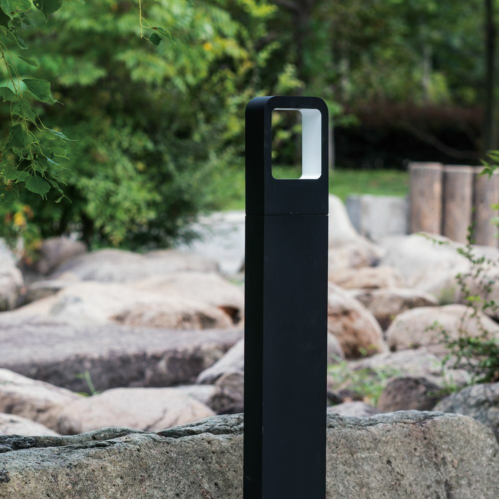Aluminum outdoor led bollard lights 4w 360lm led landscape for Garden lights