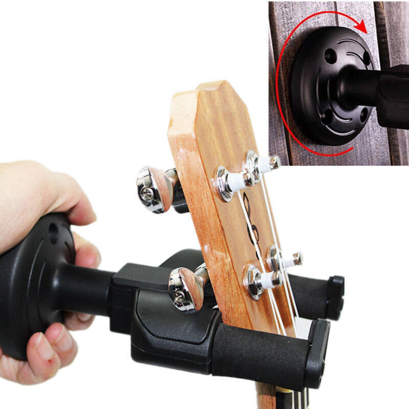 guitar wall mount hanger stand holder rack hooks display acoustic electric bass ebay. Black Bedroom Furniture Sets. Home Design Ideas