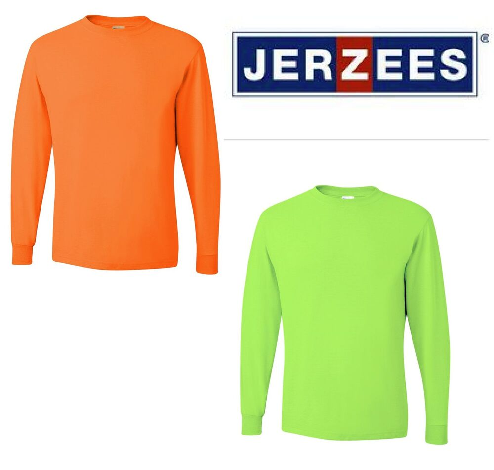 Jerzees Ansi High Visibility Long Sleeve T Shirt Safety