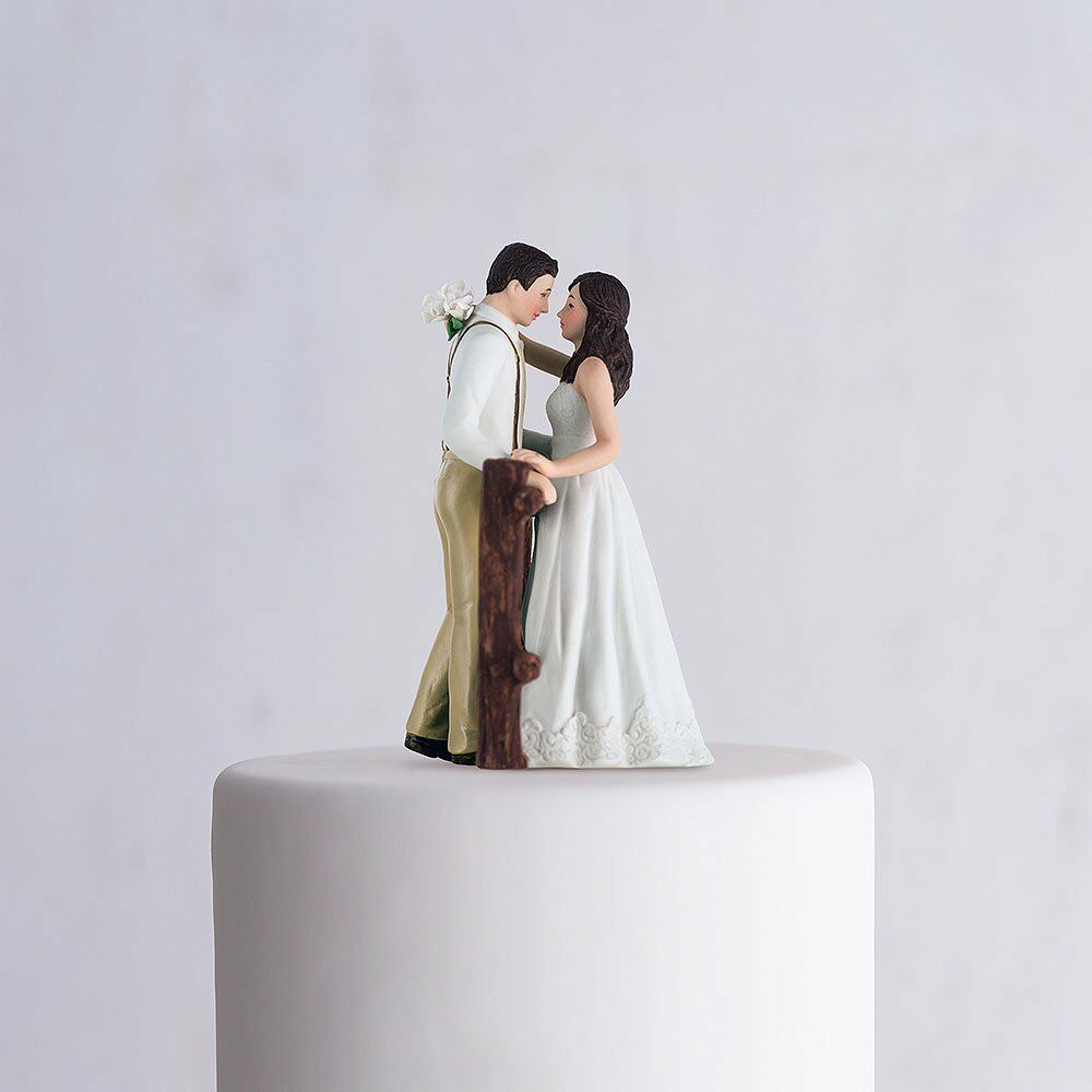 rustic wedding cake toppers figurine rustic porcelain figurine wedding cake topper white 19585