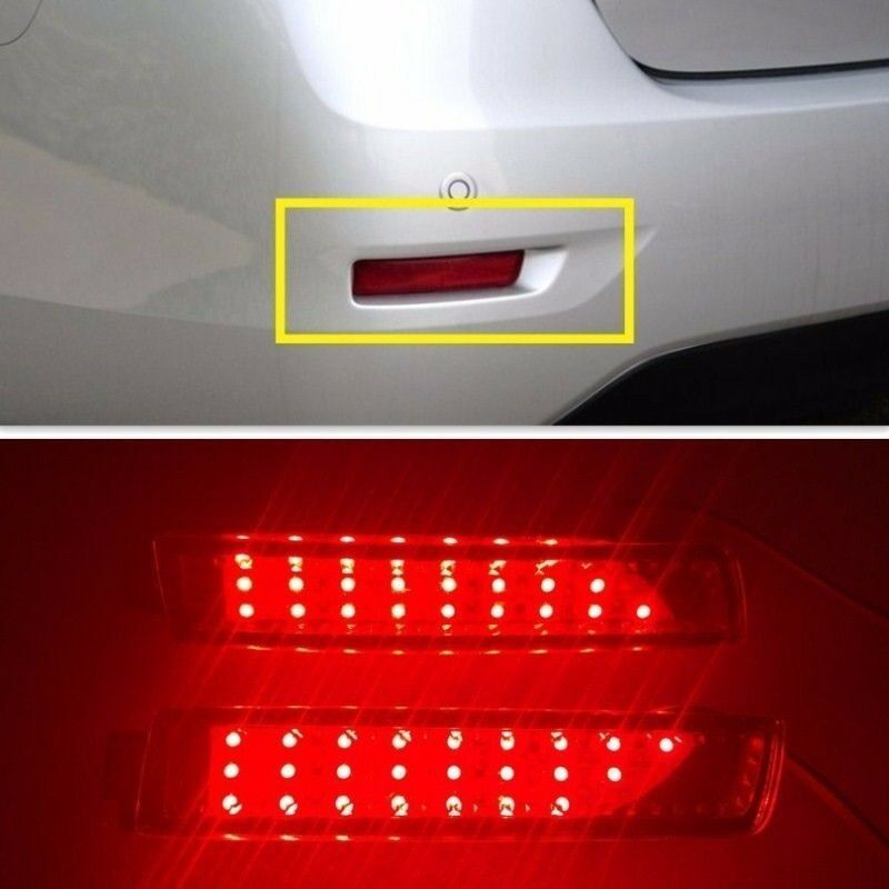 Rear bumper red led reflector tail light lamp for nissan sentra 2013 2014 2015 ebay 2015 nissan altima interior lights