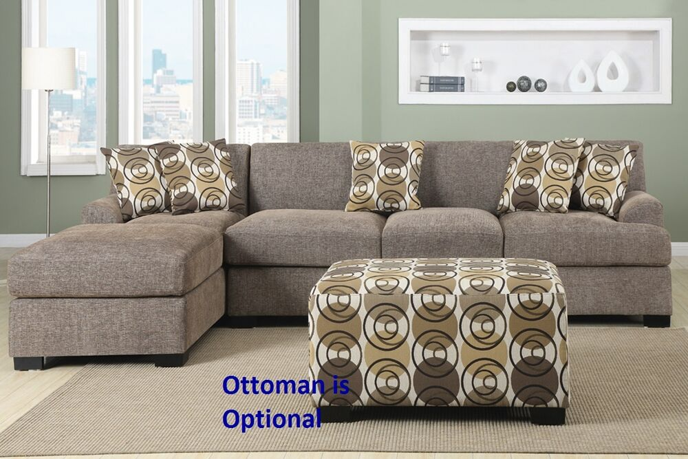 Living room set sectional sofa reversible chaise in faux for Living room set with chaise