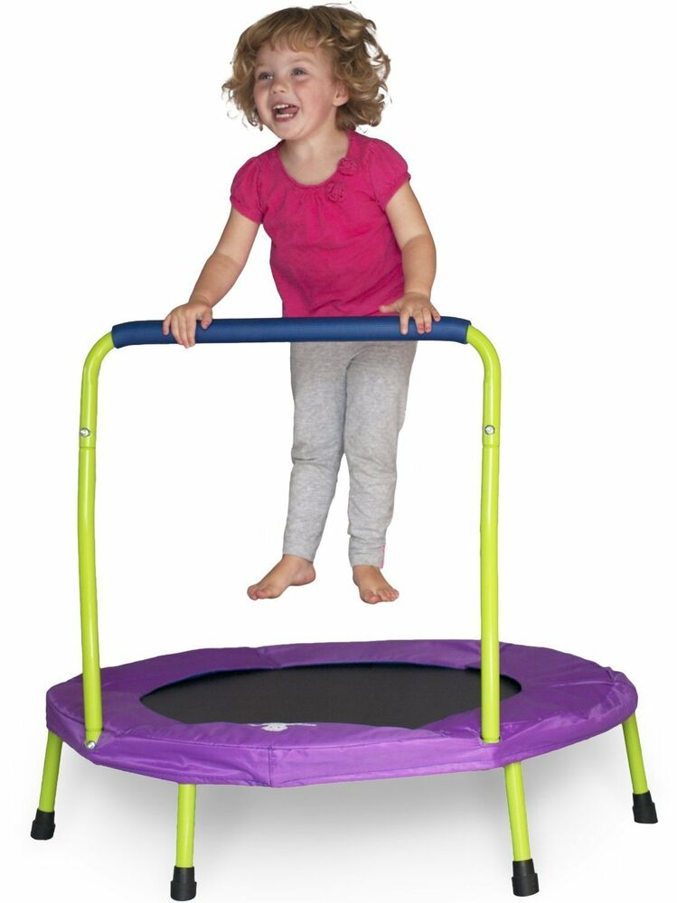 Mini Indoor Trampoline With Handle For Kids And Toddlers