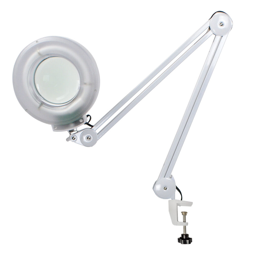 illuminated magnifying clamp on table desk lamp lighted magnifier. Black Bedroom Furniture Sets. Home Design Ideas