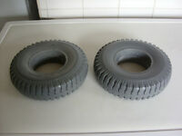 PAIR OF 2.50-4 PUNCTURE PROOF MOBILITY SCOOTER TYRES. BRAND NEW COLOUR GREY.