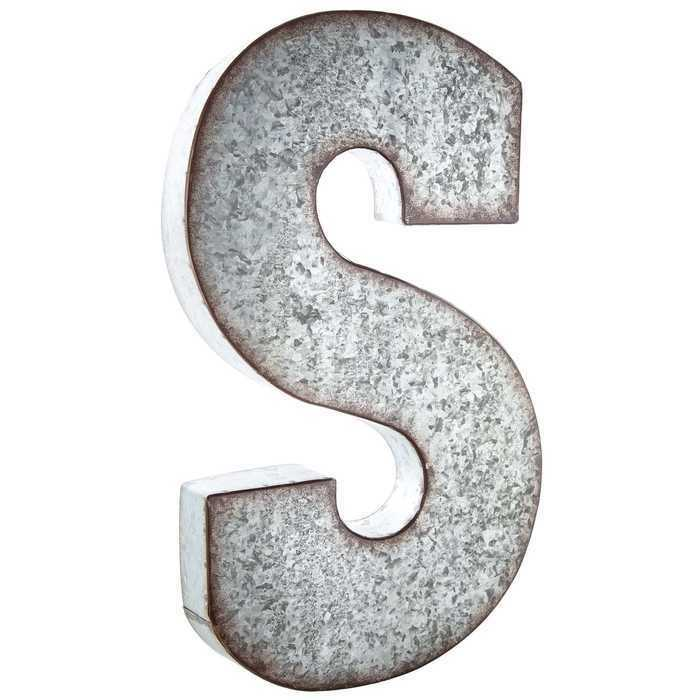 metal letter wall art large 20 quot industrial galvanized metal letter wall decor 13994 | s l1000