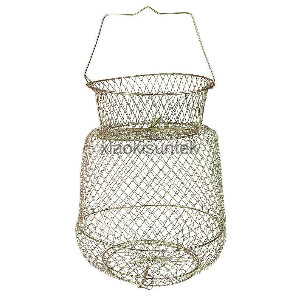 Fordable wire floating fish basket fishing tackle for Fish wire basket