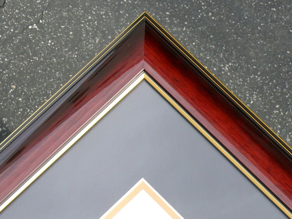 Diploma Glossy dark red luxry Cherry Frame Mat college ...
