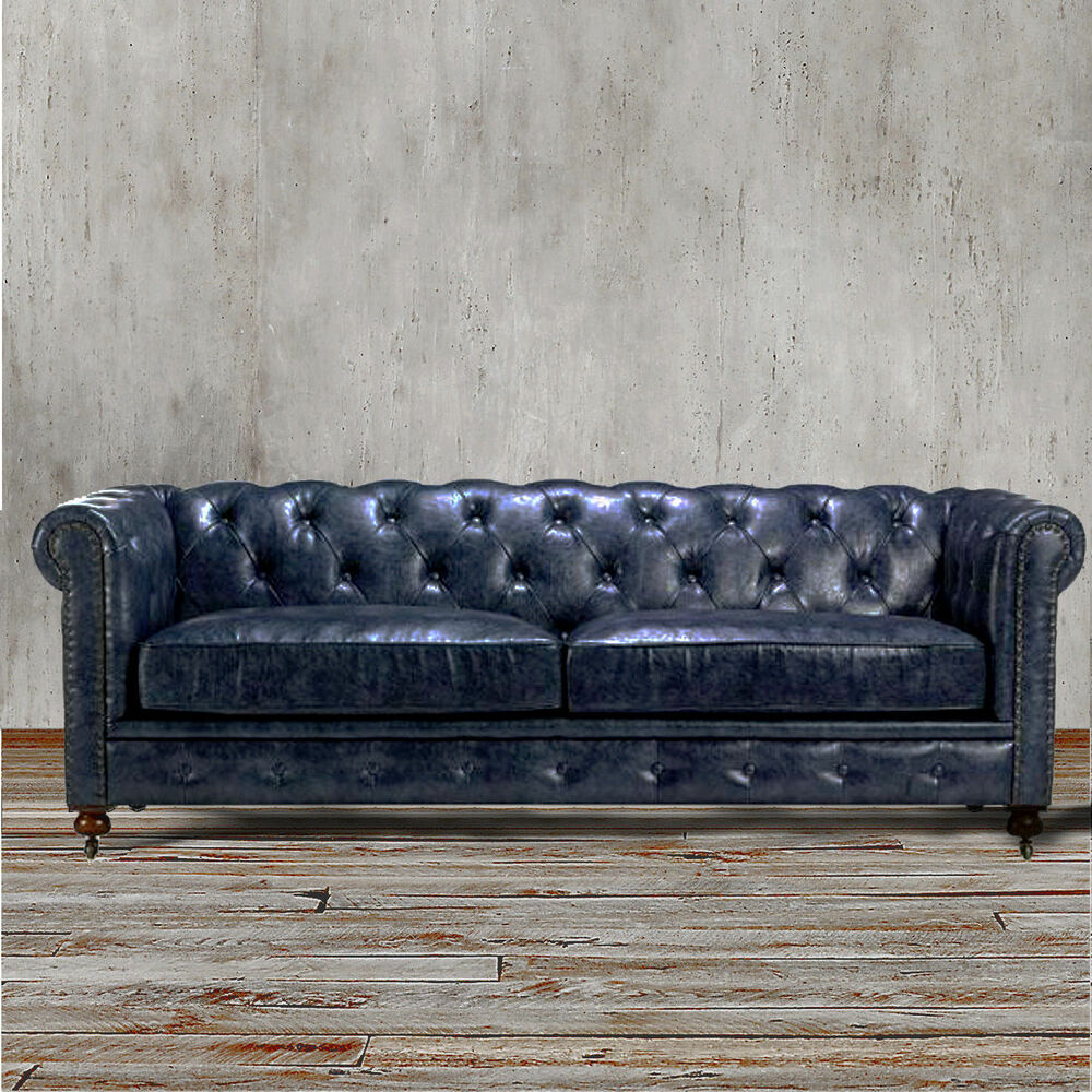 Chesterfield restoration hardware style industrial for Sofa industrial
