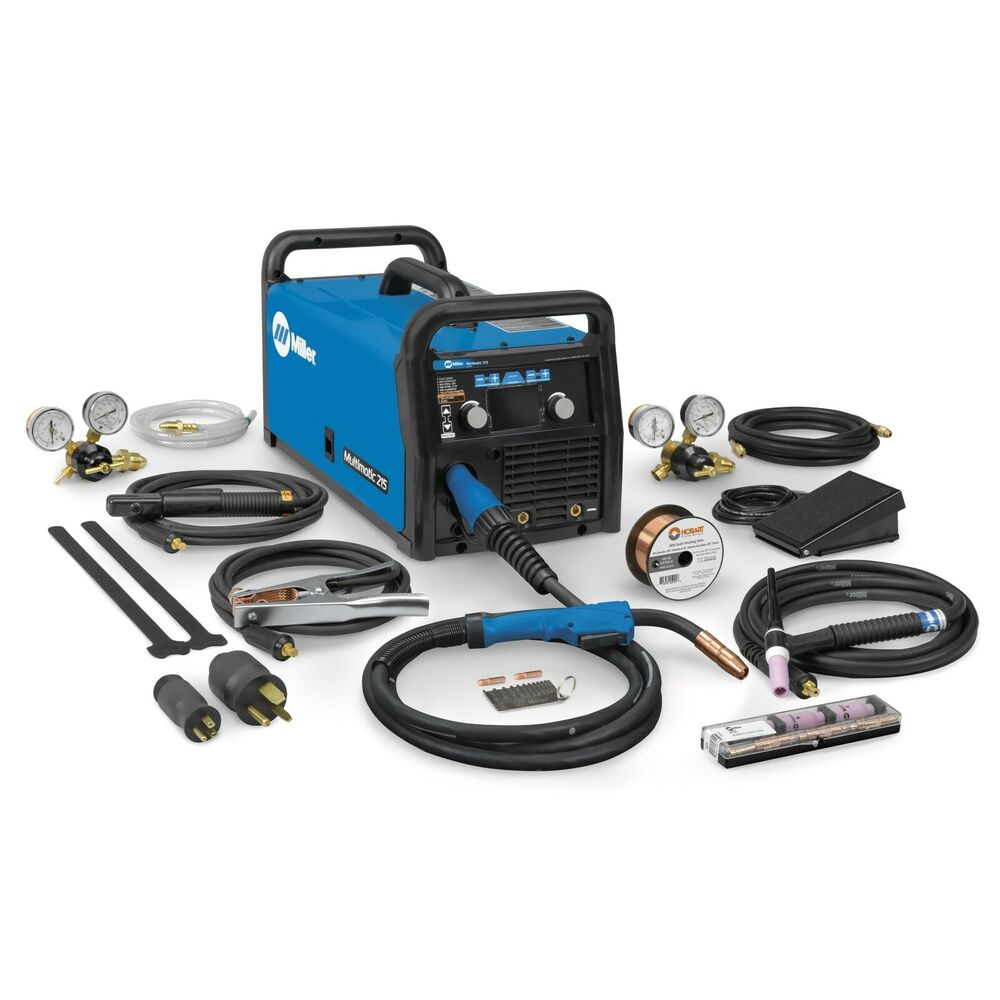 tig welder miller multimatic 215 auto set multiprocess welder tig package 951674