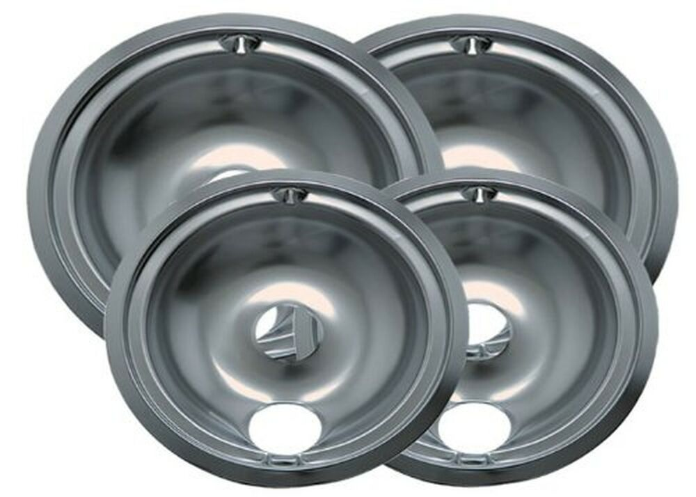 Range Kleen Chrome Electric Stove Replacement Drip Pans