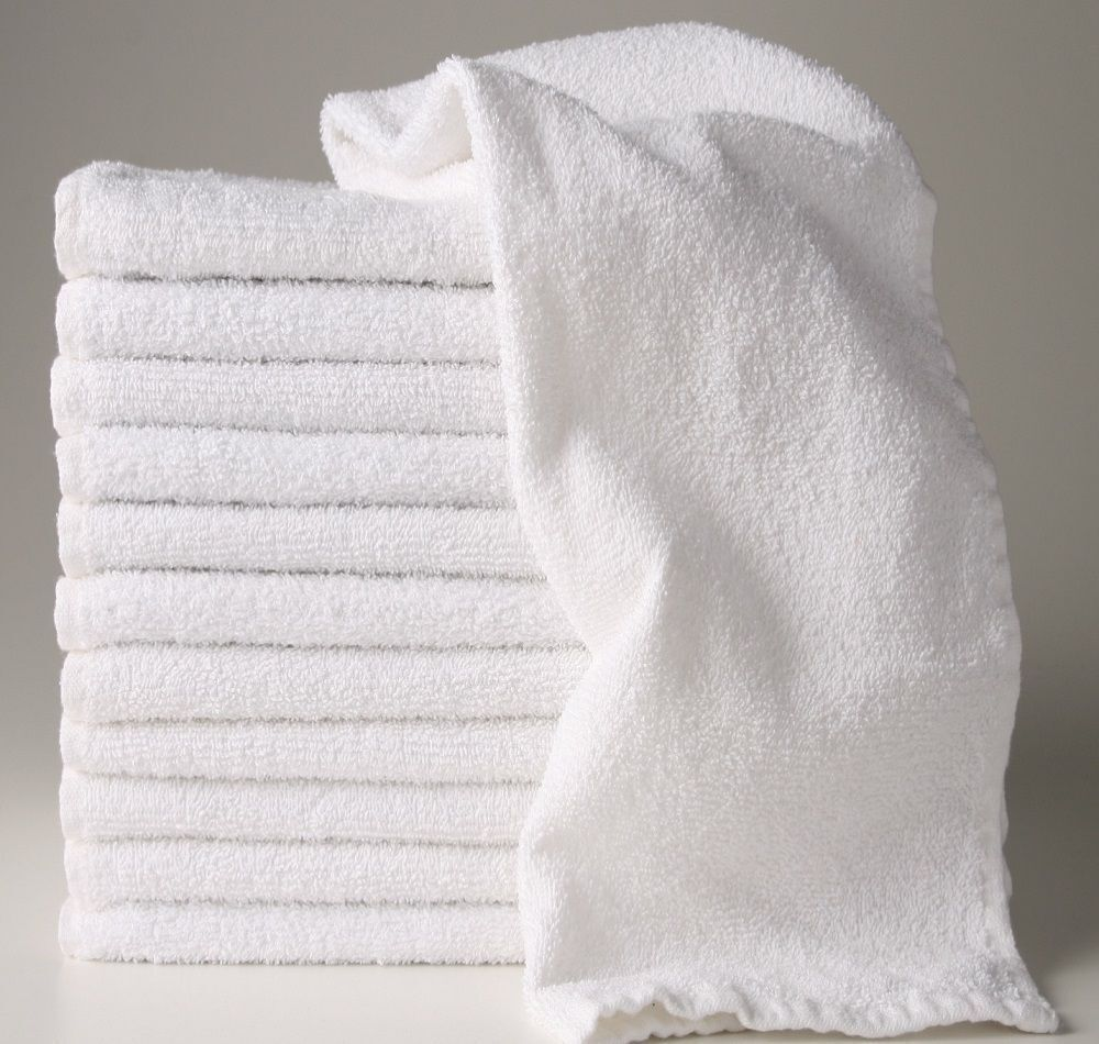 12 new white 16x27 100 cotton terry hand towels salon gym for How to get towels white