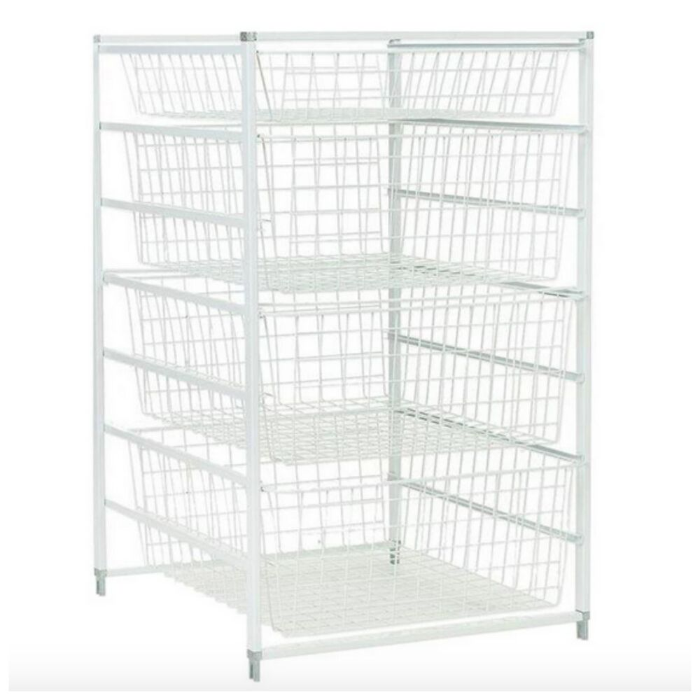 Metal Wire Closet Clothing Clothes Organizer Storage Rack