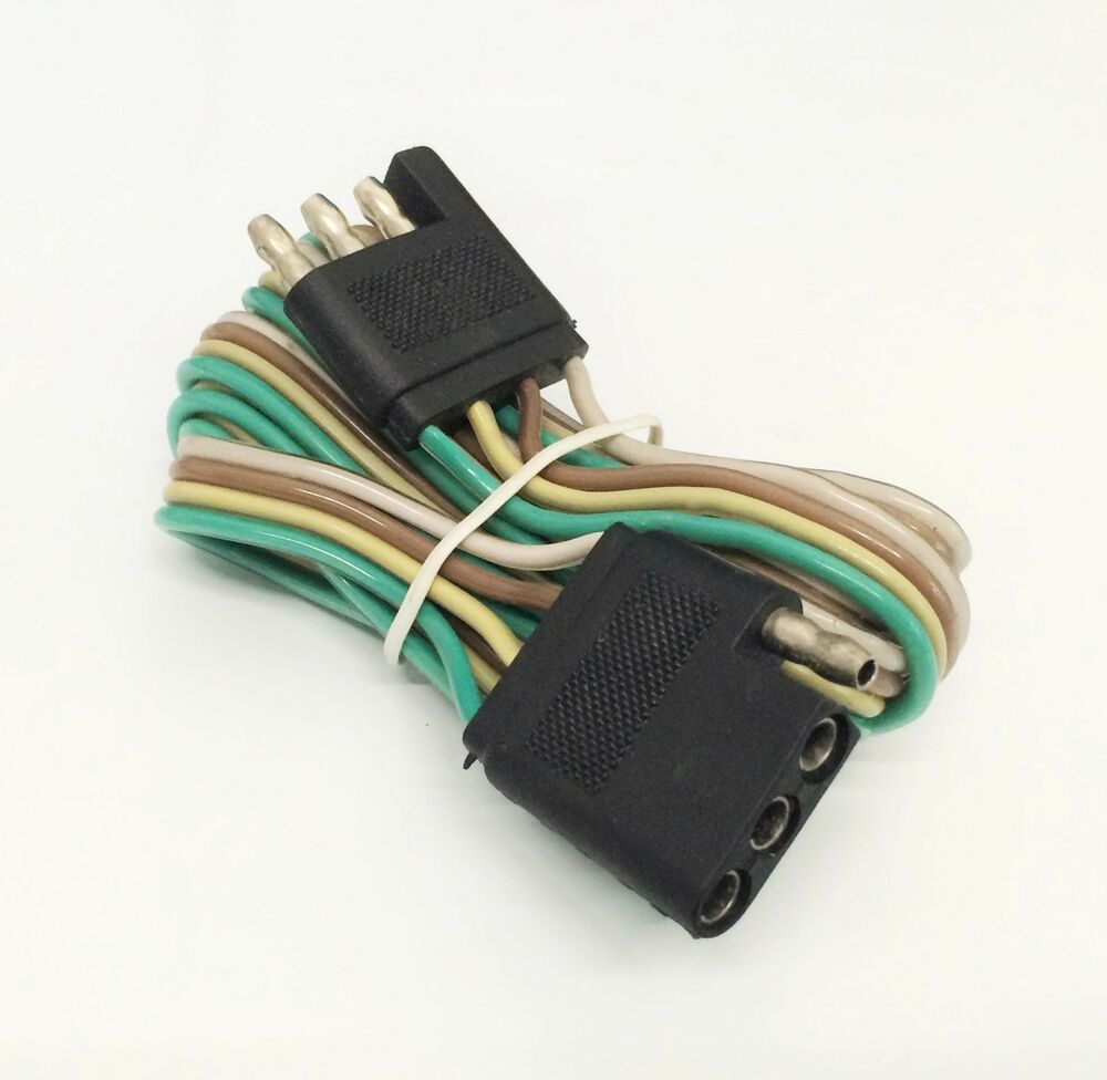 5 U0026 39  Trailer Light Wire Harness 4 Way Wire Flat Connector