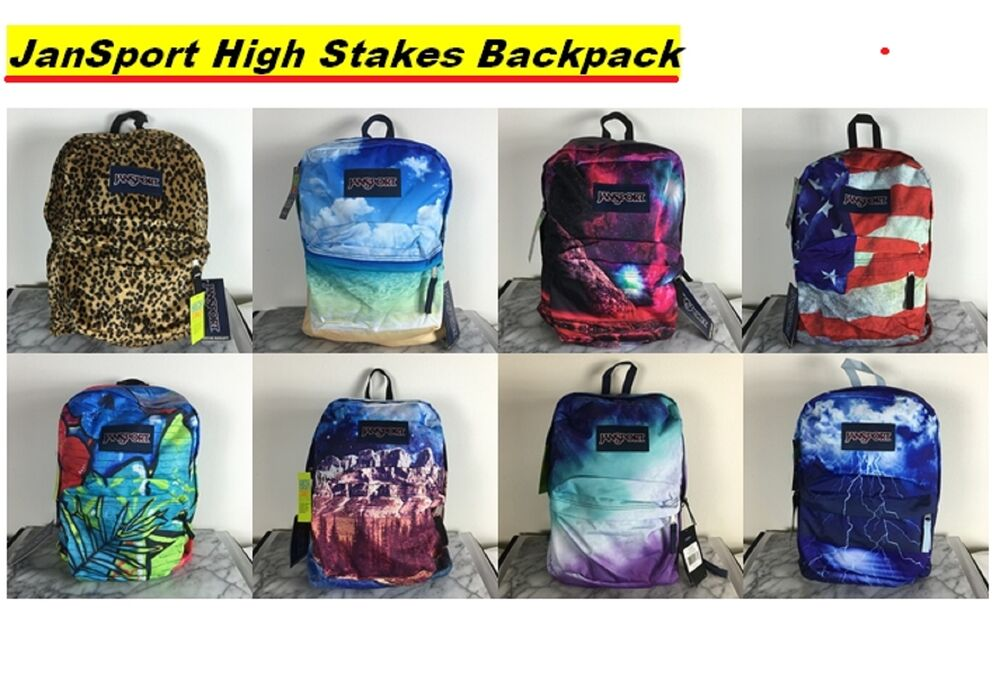0847dd623efe JanSport High Stakes Backpack School Bag Book Bags Superbreak 100%  authentic